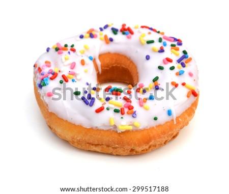 Donut isolated on white background. - stock photo