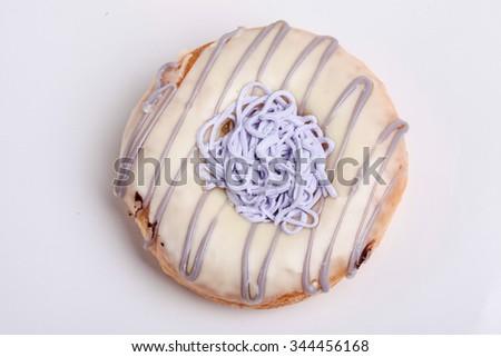 Donut isolated on white background - stock photo