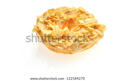 Donut isolated over white - stock photo