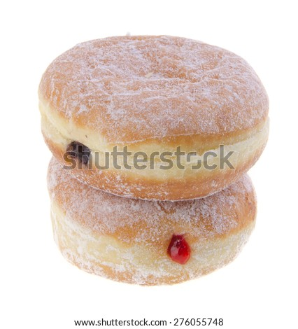 donut. jelly filled doughnuts on a background - stock photo