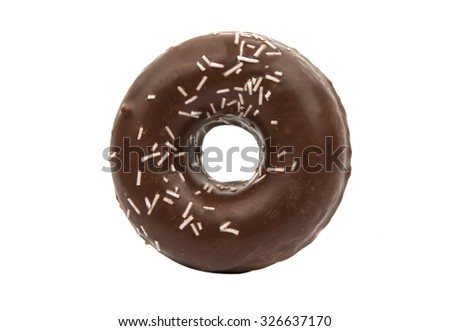 Donut on a white background