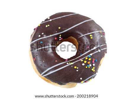 donut on whte bangground