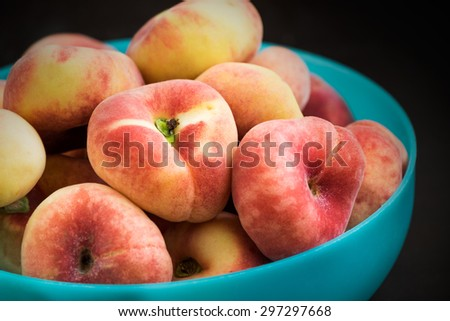 Donut peaches in bowl