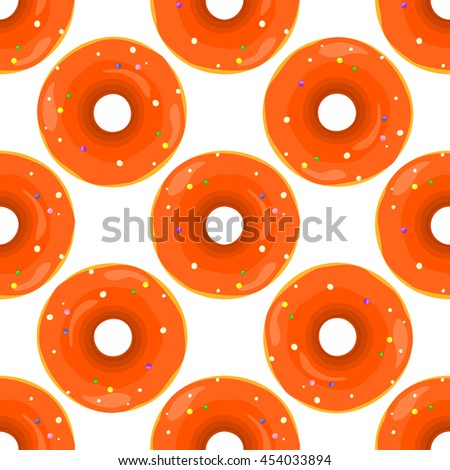 Donut seamless background texture pattern. Cute donuts with glazing. Seamless pattern. Delicious donut glazed. Donut patternseamless pattern - stock photo