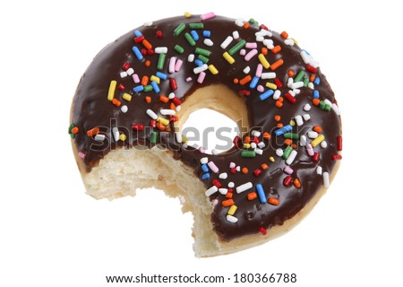 Donut with bite - stock photo