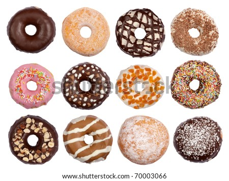 Donuts collection - stock photo