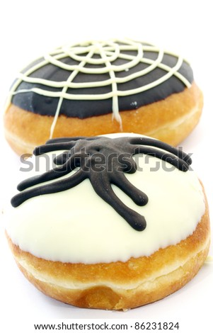 Donuts for Halloween. - stock photo
