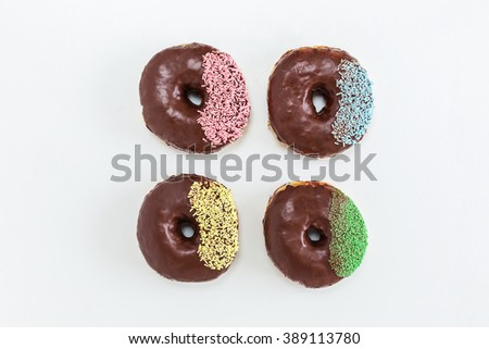 Donuts isolated on background - stock photo