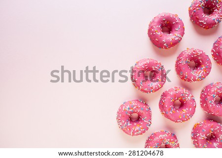 Donuts on link background - stock photo