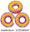donuts set - stock vector