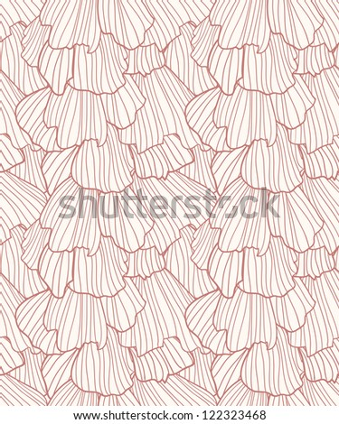 Doodle abstract frills seamless pattern. Raster. - stock photo