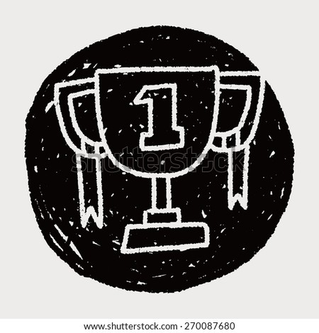 doodle champion cup - stock photo