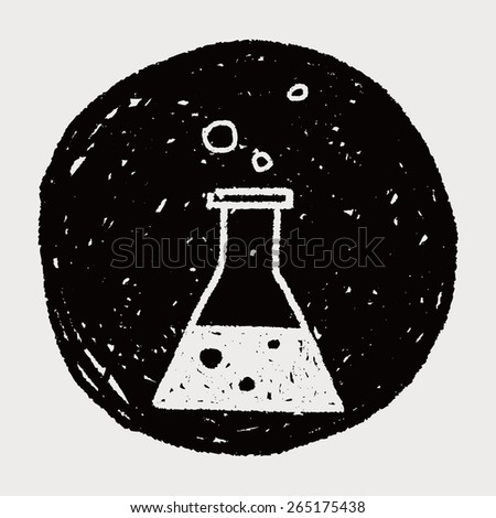 doodle chemistry - stock photo