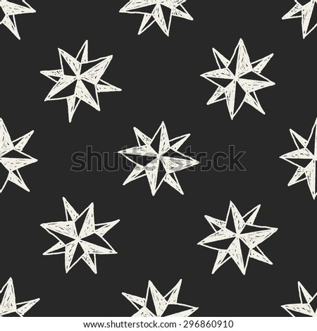 doodle Compass seamless pattern background