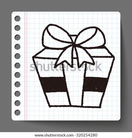 doodle gift - stock photo
