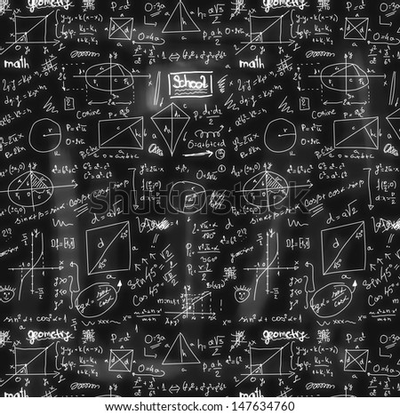 doodle maths seamless background, texture and pattern