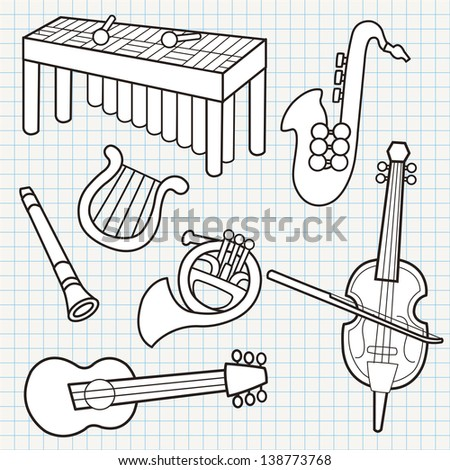 doodle musical instruments collection