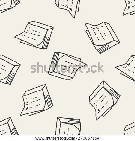 doodle note seamless pattern background