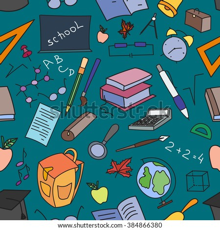 Doodle pattern of learning.  - stock photo