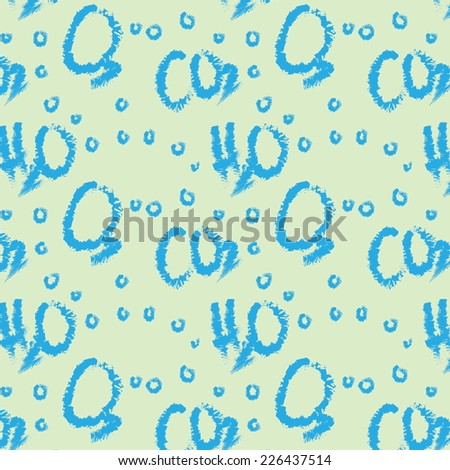 doodle pattern water ,carbon dioxide, oxygen, CO2, O2 H2O  - stock photo