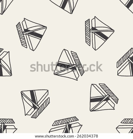 Doodle Sailboat seamless pattern background
