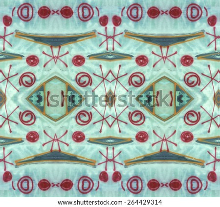 Doodles Pattern with an ethnic tribal feeling repeats seamlessly. - stock photo