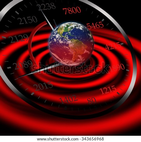 """Doomsday Clock 'was withdrawn """"Elements of this image furnished by NASA"""" - stock photo"""