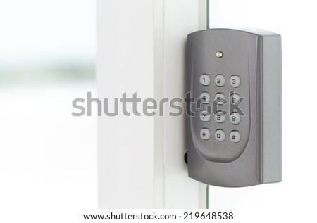 Door access control - stock photo