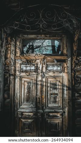 Door and Horror - stock photo