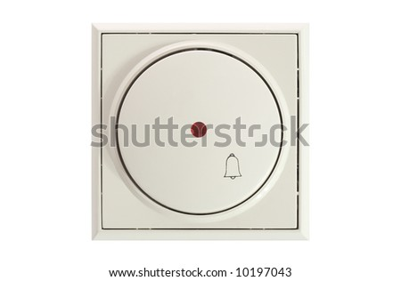 door bell isolated on white background
