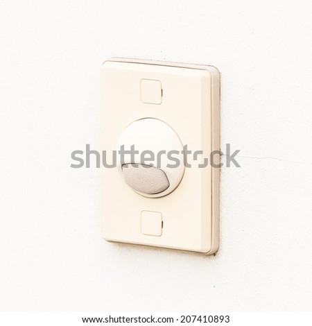 Door bell on white background
