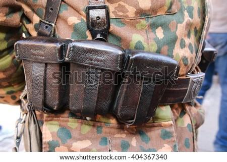 door cartridges divided German  - stock photo