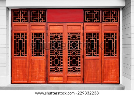 door Chinese Style - stock photo