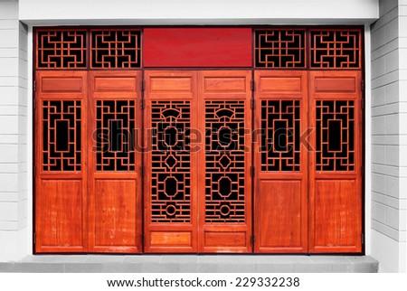 door Chinese Style - stock photo