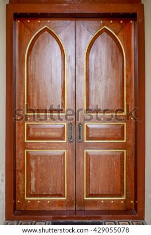 Door Church - stock photo