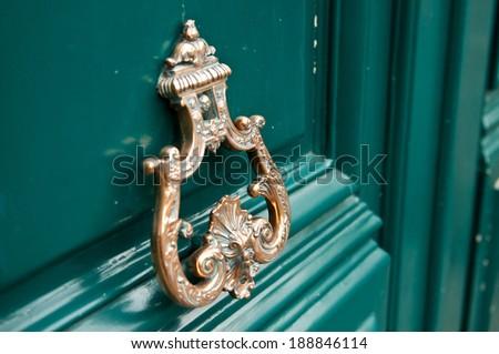 door closeup - stock photo