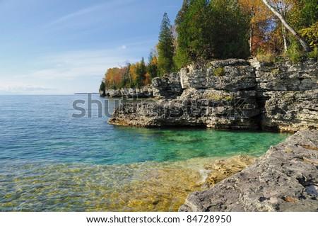 Door County Green Water - stock photo