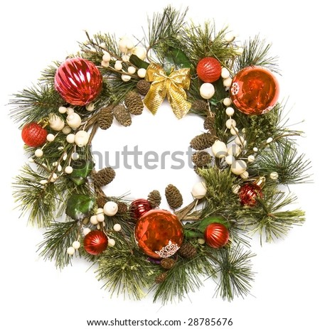 door decoration isolated on the white background - stock photo