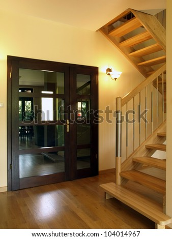 Door: entrance to the luxury house