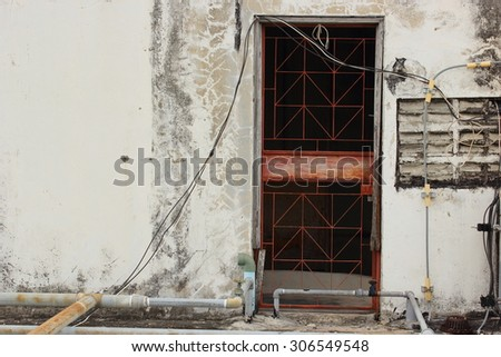 Door exit a building old