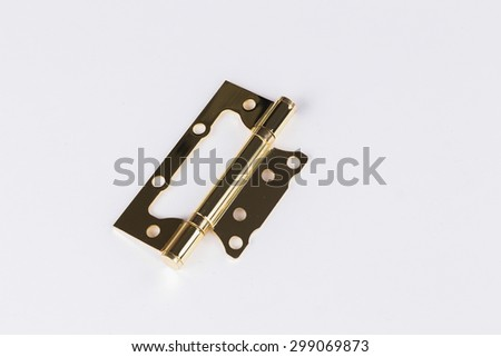 Door fittings hinges. & Door Fittings Hinges Stock Photo 299069873 - Shutterstock