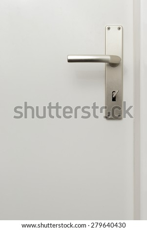Door handle background - stock photo