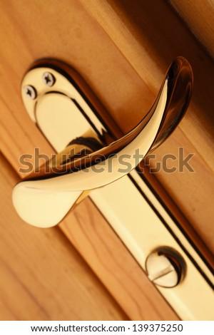 Door Handle Close Up - stock photo