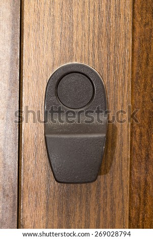 door handle on the white background - stock photo