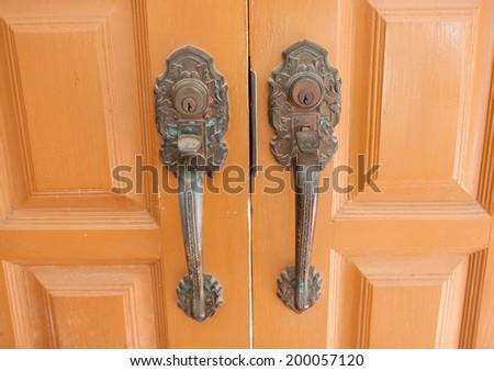 Door handles, Thailand - stock photo