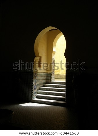 Door in Morocco - stock photo