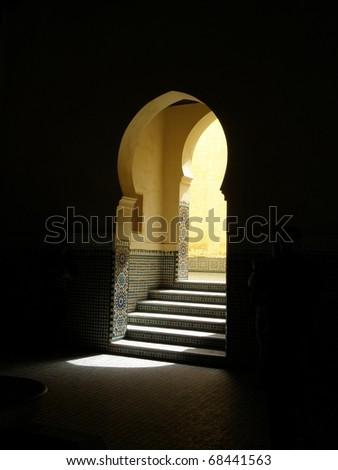 Door in Morocco - stock photo