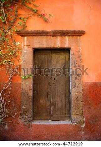 Door in San Miguel de Allende, Mexico - stock photo