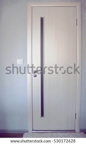 door in the room, minimalism