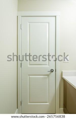 Door inside a luxury bathroom - stock photo